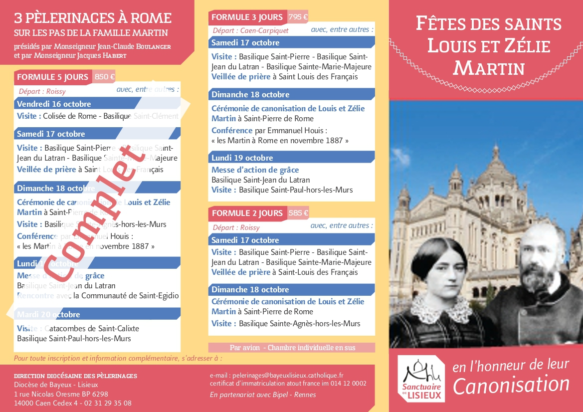 tract programme canonisation 1
